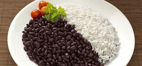 Dupla infalível do prato feito, arroz e feijão